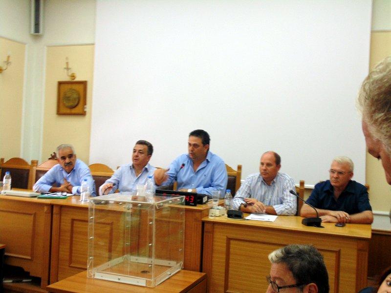 το νέο προεδρείο, Πιτσούλης, Σταματάκης, Θραψανιώτης