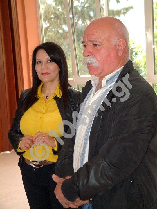 η πρόεδρος Ελένη Τσαντηράκη και ο πρόεδρος του Συλ. Εργαζομένων Σάββας Ματθαιάκης