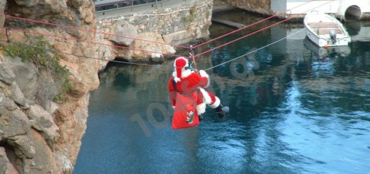 Άγιος Βασίλης ..... ιπτάμενος !!