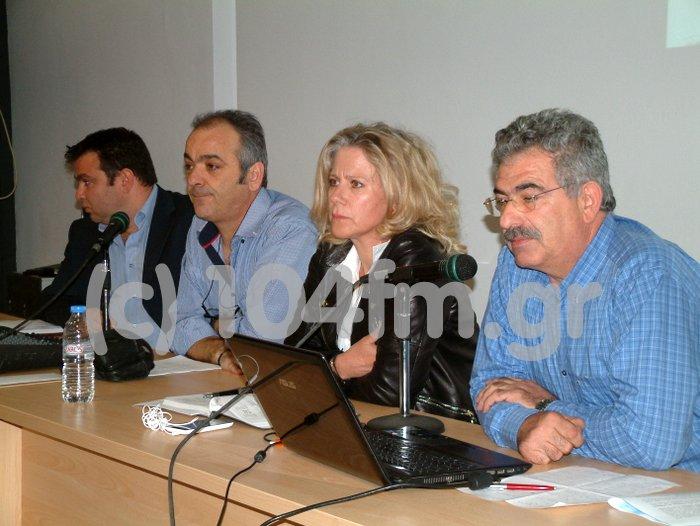 από αριστερά, Παπαδοπετράκης, Σπυριδάκης, Στυλιανού, Στεφανάκης