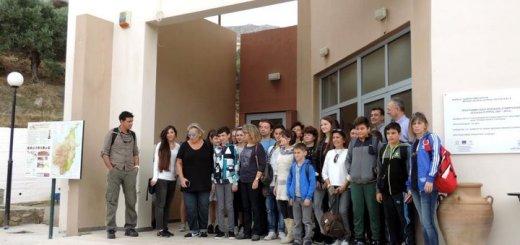 Μαθητές Erasmus+ στο Γεωπάρκο Σητείας