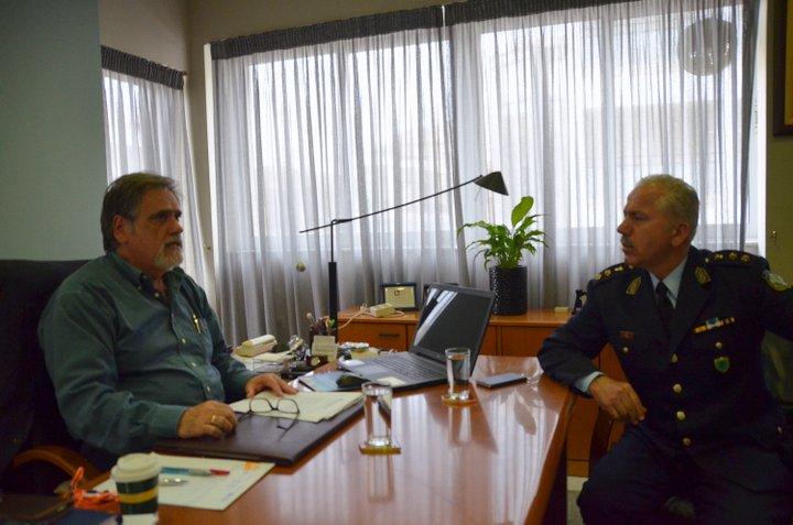 Συνάντηση δημάρχου αστυνομικού διευθυντή