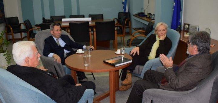 Συνάντηση Φθενάκη, Σουλαδάκη με τον δήμαρχο Αγίου Νικολάου