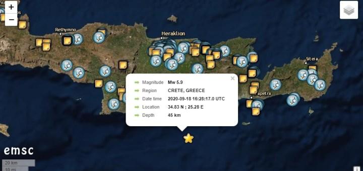 Ισχυρή σεισμική δόνηση αισθητή σε όλη τη Κρήτη