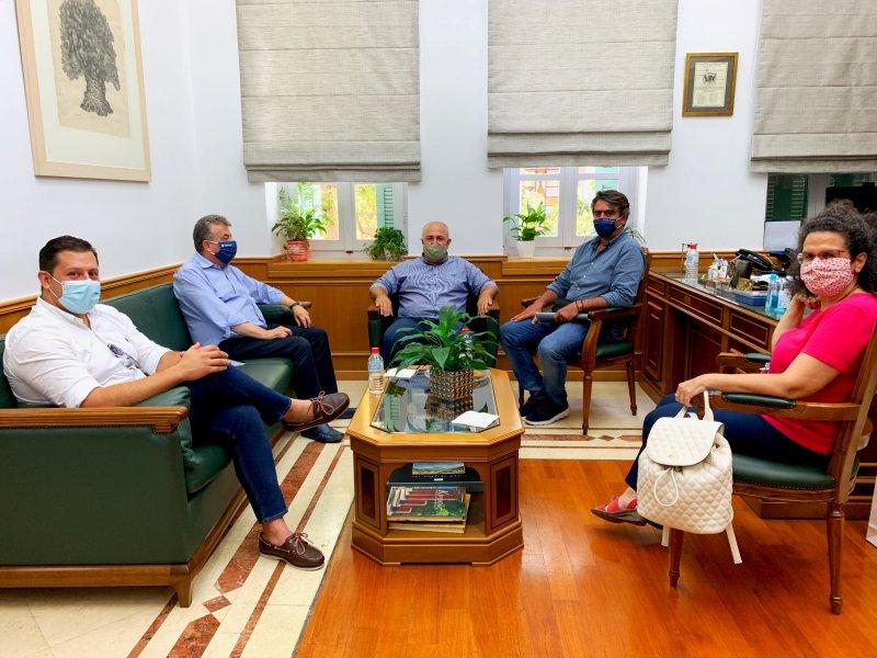 Συνάντηση του Περιφερειάρχη Κρήτης με την Διοίκηση του ΒΙΟΠΑ Αγίου Νικολάου και τον Πρόεδρο του Επιμελητηρίου Λασιθίου