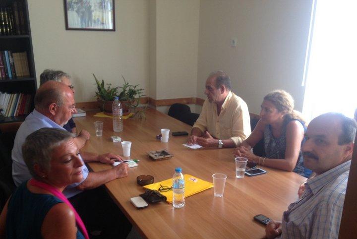 οι υποψήφιοι βουλευτές Λασιθίου της Λαϊκής Ενότητας στο Εργατικό Κέντρο