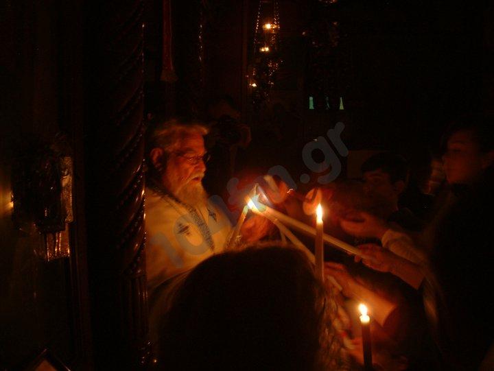 Δεύτε λάβετε φως εκ του ανεσπέρου φωτός και δοξάσατε Χριστόν τον αναστάντα εκ νεκρών