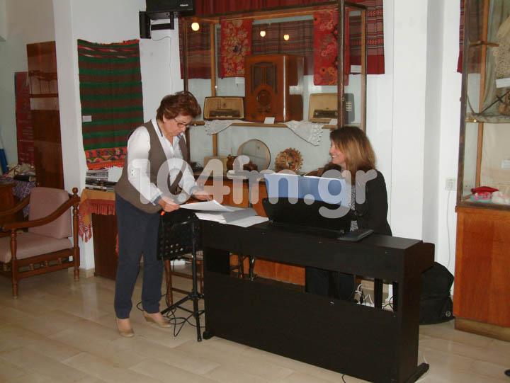 η πρόεδρος του Λ.τ.Ε. Παρούλα Κουτσάκη με την Χριστίνα Κορρέ