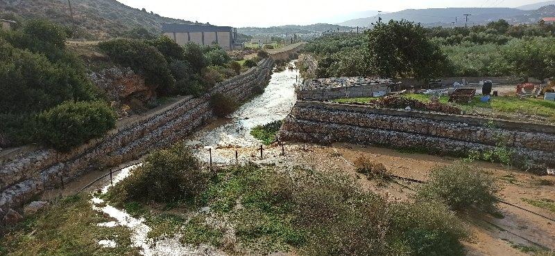 Πλημύρα στο οροπέδιο Λασιθίου, ζημιές σε Κερά και Γωνιές