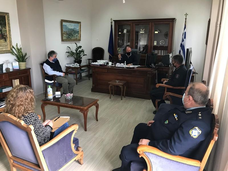 Σύσκεψη υπό τον Αντιπεριφερειάρχη Λασιθίου για την αντιμετώπιση κινδύνων που προκύπτουν λόγω της κακοκαιρίας «Μήδεια»
