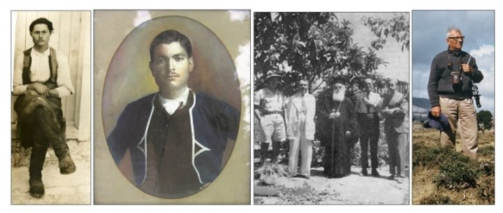 01/ Έφηβος με τοπική κρητική ενδυμασία τα πρώτα χρόνια της δεκαετίας του 1910, έξω από το πατρικό του σπίτι στη συνοικία της Κριτσάς «Αφέντης Χριστός» (παραχώρηση από την προσωπική συλλογή Εμμ.Γ.Κουτουλάκη).. 02/ Φωτογραφία σε κορνίζα, σε συγγενικό σπίτι της Κριτσάς, με τη στολή της Κρητικής Χωροφυλακής όπου κατατάχθηκε το 1917 (παραχώρηση από τον Θ.Γραμμέλη) . 03/ Η ΚΕΔΩΚ (Κεντρική επιτροπή διαπιστώσεως ωμοτήτων Κατοχής) τον Αύγουστο του 1945 στη Νεάπολη. Διακρίνονται από αριστερά ο Κώστας Κουτουλάκης, ο Ι. Καλλιτσουνάκης ,ο επίσκοπος Πέτρας Διονύσιος (Μαραγκουδάκης),ο Νίκος Καζαντζάκης και ο Ι. Κακριδής (φωτογραφικό αρχείο Κ.Κουτουλάκη του Δήμου Μαλεβιζίου).. 04/ Ο Κώστας Κουτουλάκης με το φωτογραφικό του εξοπλισμό στο Οροπέδιο Καθαρού στις 3.09.1961 (παραχώρηση από την προσωπική συλλογή Ά.Βούλγαρη)