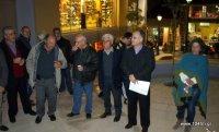 από τη παρουσίαση του χώρου, ο δήμαρχος Δημήτρης Κουνενάκης, η αρχιτέκτων και πολίτες, μέλη του Κ.Α.Π.Η.