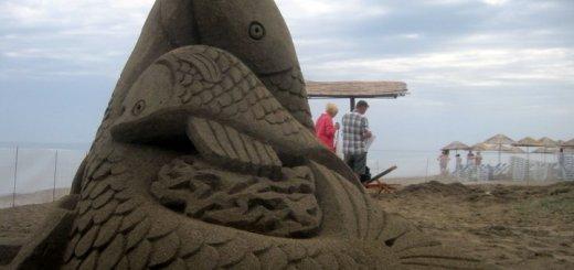 Γλυπτική στην άμμο στην Αμμουδάρα Ηρακλείου