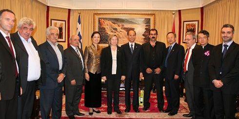 Στη συνάντηση με τον Κινέζο Πρέσβη την κ. Σχοιναράκη συνόδευαν οι πρόεδροι των Ενώσεων Αγροτικών Συνεταιρισμών του Νομού