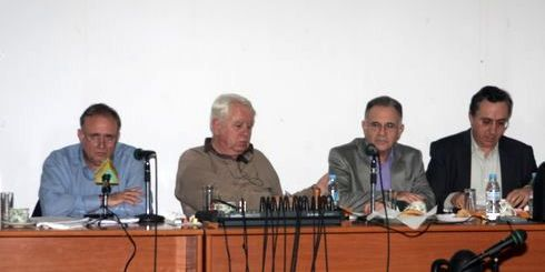 το προεδρείο της ΤΕΔΚ μαζί με το νομάρχη Λασιθίου