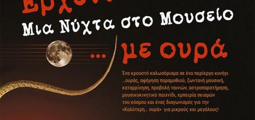 """Έρχεται… """"Μια Νύχτα στο Μουσείο"""" Φυσικής Ιστορίας Κρήτης …με ουρά!"""