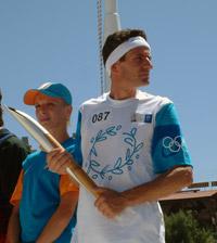 Αφή της Ολυμπιακής φλόγας στον Αγιο Νικόλαο