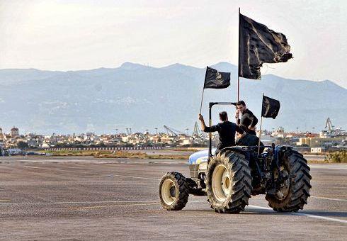 αγρότες διαμαρτυρία