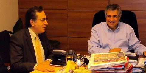 ο κ. Καρχιμάκης με τον Νομάρχη Λασιθίου