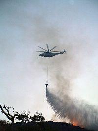 Το ελικόπτερο προσπαθεί