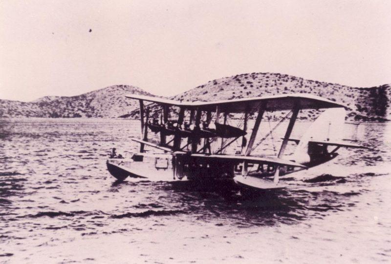 όταν τα υδροπλάνα της Imperial χρησιμοποιούσαν την Ελούντα ως ενδιάμεσο σταθμό για μέση ανατολή