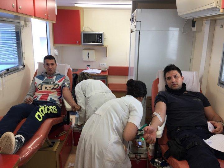 εθελοντική αιμοδοσία της Ένωσης Αστυνομικών Υπαλλήλων Λασιθίου