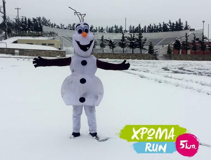 Ζωντάνεψε χιονάνθρωπος στην Κρήτη!