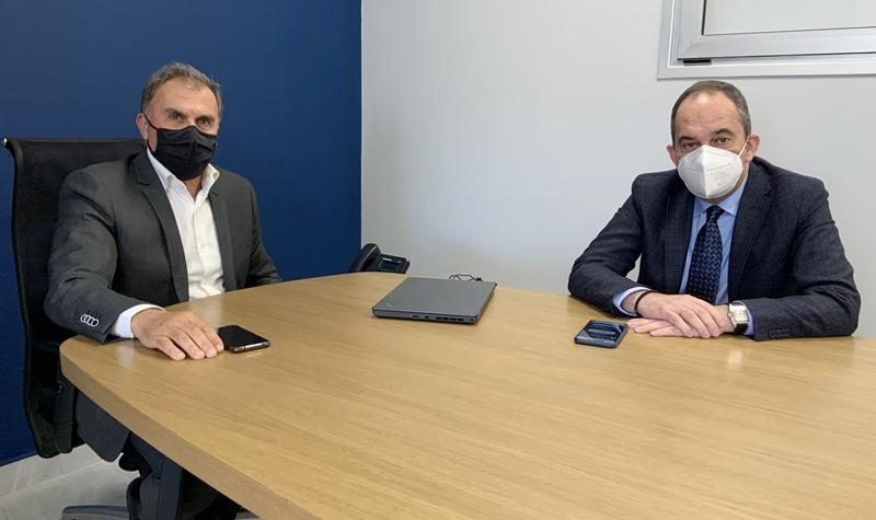 Συνάντηση του δημάρχου Ιεράπετρας με τον Υπουργό Ναυτιλίας και Νησιωτικής Πολιτικής