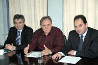 Ο Νίκος Καστρινάκης με τους βουλευτές Λασιθίου