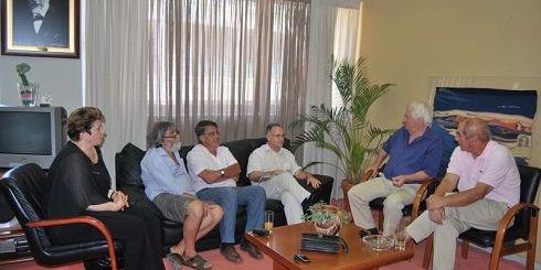 οι πρόεδροι των σωματείων με τον δήμαρχο