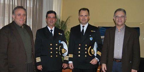 Ο κ. Κουνενάκης με τους κκ. Μελισσουργάκη, Αγγελάκη και Καστρινάκη