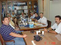 Ο Δ. Κουνενάκης με τη διοίκηση του Εμπορικού Επιμελητηρίου