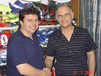 Ο Δημήτρης Κουνενάκης με τον κ. Γρηγοράκη