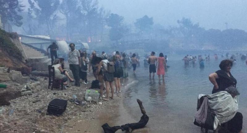 Αμμούδι, ασθενοφόρα, Μάτι, ανάπλαση λίμνης