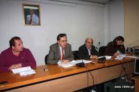 το προεδρείο του νομαρχιακού συμβουλίου Λασιθίου