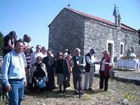 Προσκυνητές και ο ναός