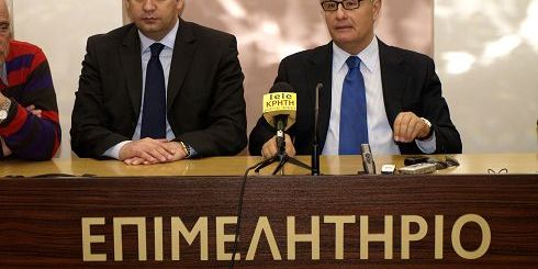 Γιάννης Πλακιωτάκης και Πάνος Παναγιωτόπουλος, κατά τη συνέντευξη τύπου