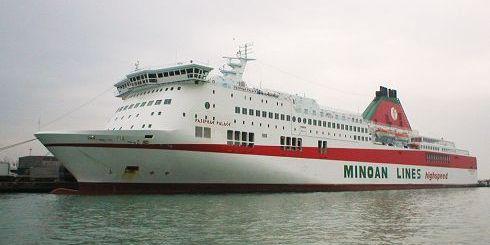 ένα από τα πλοία των Μινωικών Γραμμών