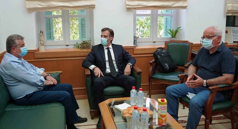 Συνάντηση Περιφερειάρχη Κρήτης με τον Πρόεδρο του ΕΟΔΥ