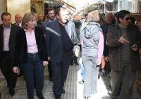 Η νομάρχης Ηρακλείο, επισκεπτόμενη την αγορά