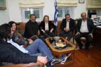 Η κ. Σχοιναράκη με τους προέδρους των ομοσπονδιών