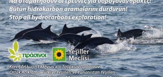 Ο εθνικισμός είναι αδιέξοδος. Να σταματήσουν οι έρευνες για υδρογονάνθρακες στην Ανατολική Μεσόγειο!