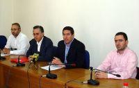 από τη συνέντευξη, τα μέλη του ΤΕΕ και ο νομάρχης Λασιθίου
