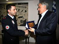 ο Γενικός Γραμματέας, βραβεύει εθελοντές Σαμαρείτες