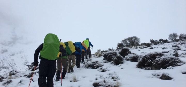 Κυριακή 9 Φεβρουαρίου 2020, χειμερινή ανάβαση στην Δίκτη