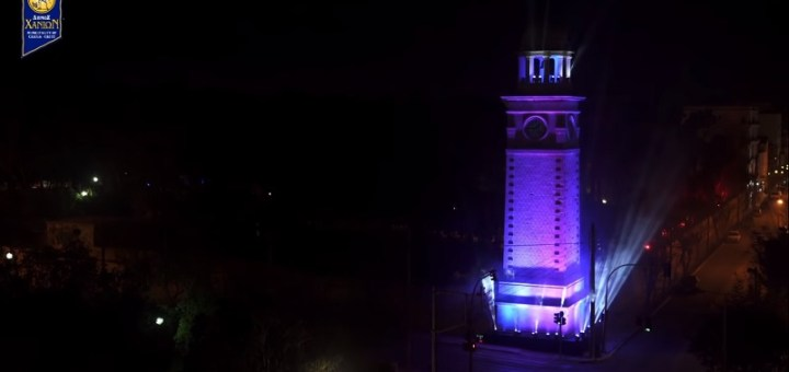 Light - show στο Ρολόι του Δημοτικού Κήπου Χανίων την παραμονή Πρωτοχρονιάς