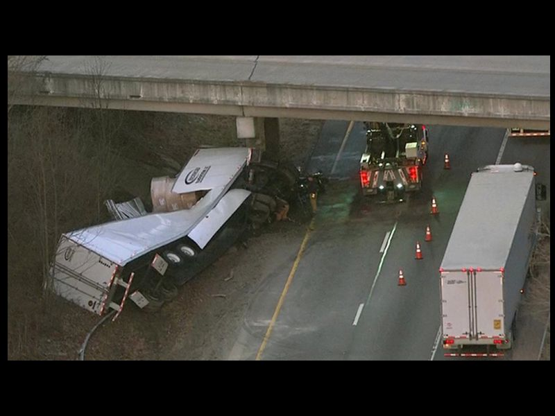 TDOT CHECKS BRIDGE INTEGRITY AFTER TRACTOR-TRAILER CRASH ON