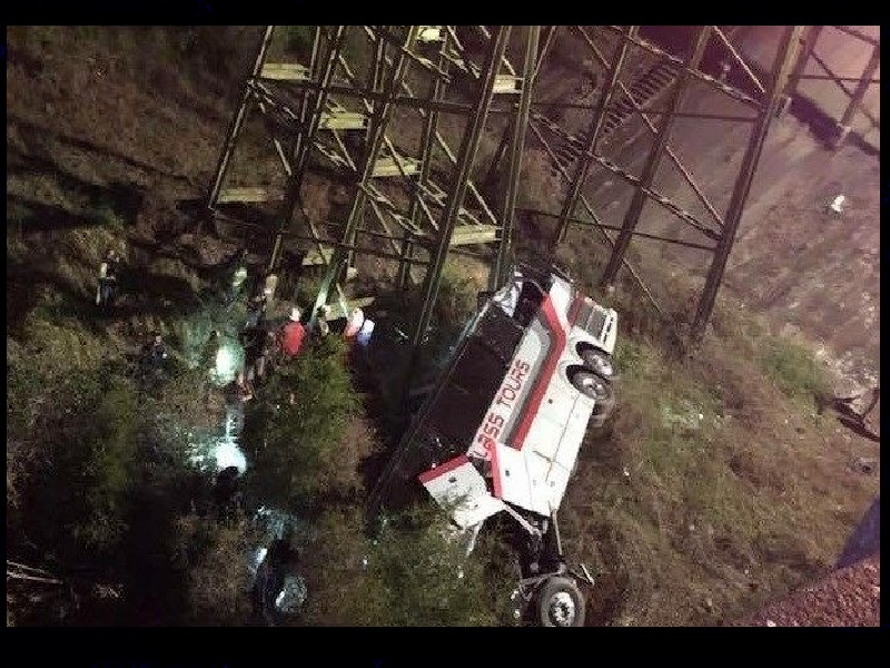 Driver killed, Texas students hurt when bus plunges into Alabama ravine