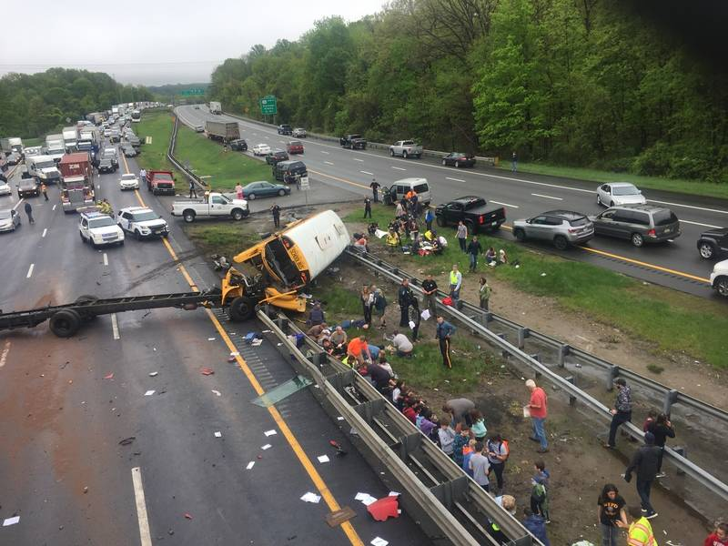 'Horrific' school bus crash reported in New Jersey