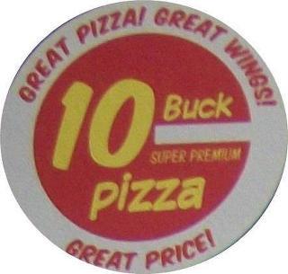 10 buck pizza in